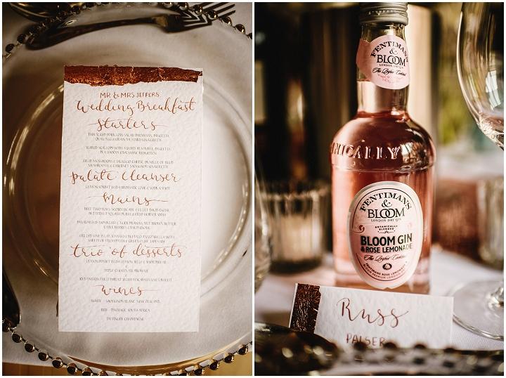 menus for weddings