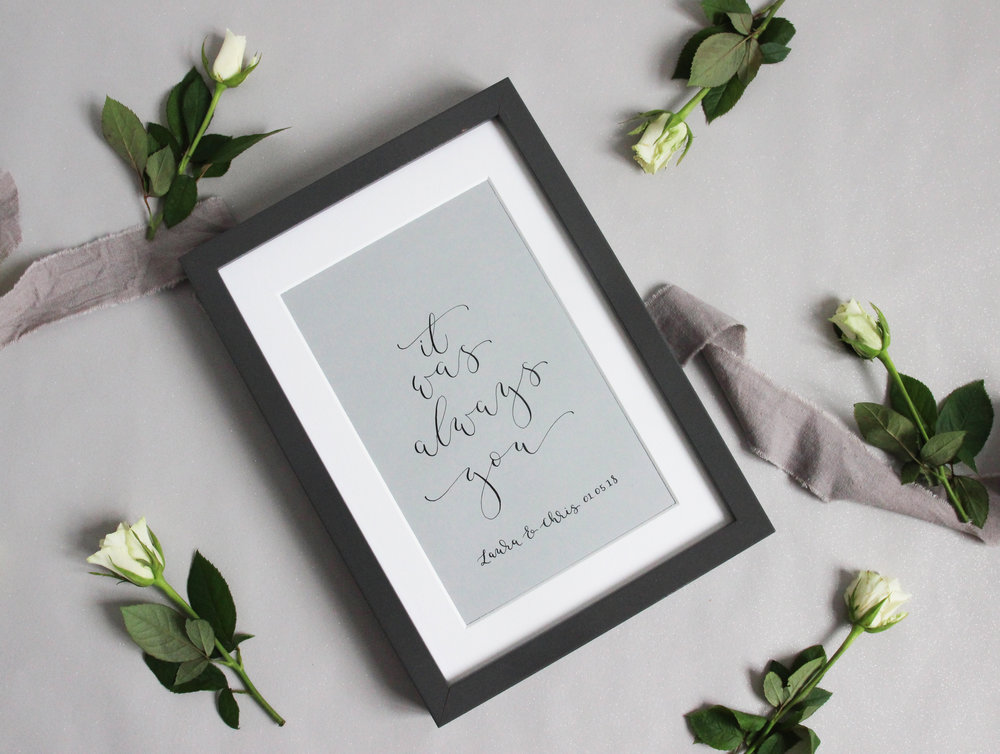bespoke calligraphy artwork
