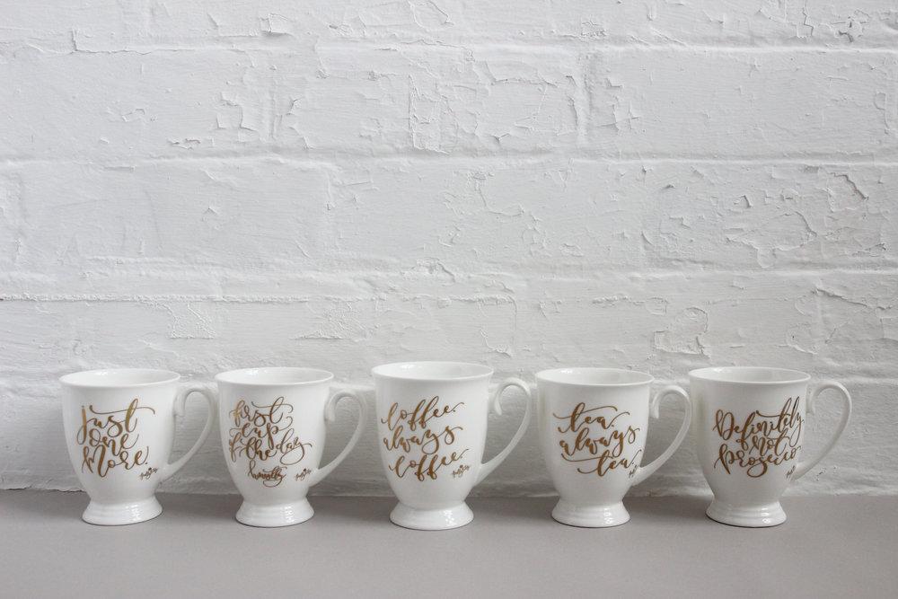 calligraphy mugs