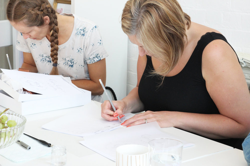 modern calligraphy workshops Derbyshire