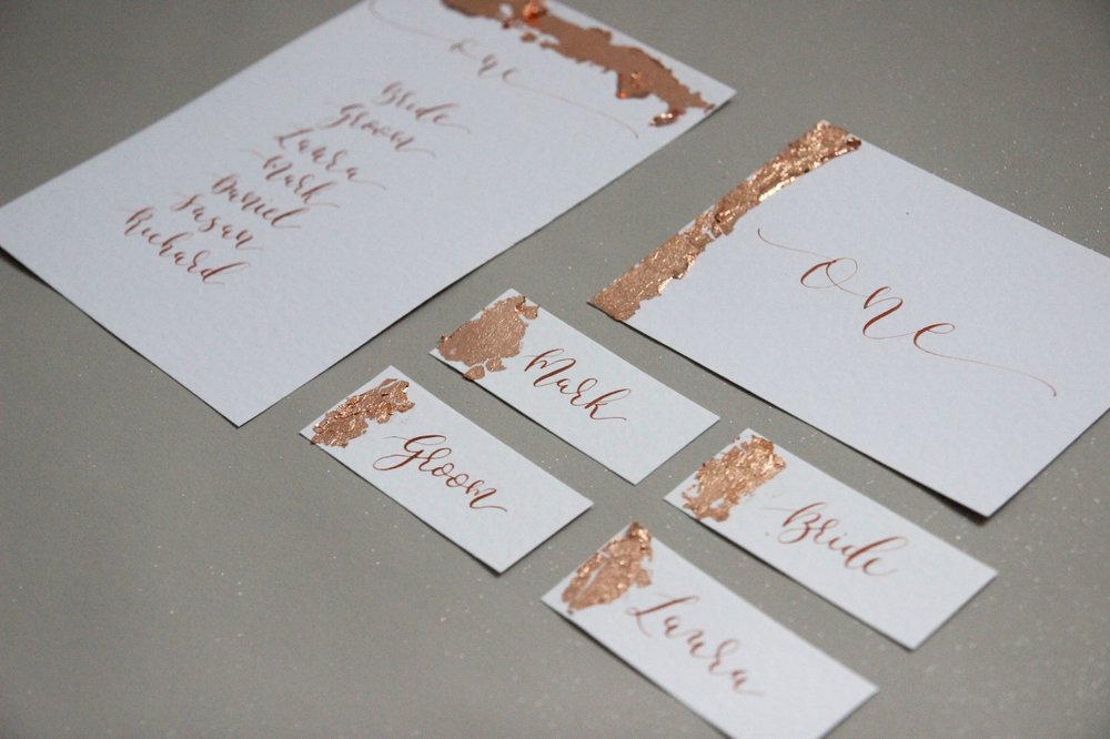gold collection wedding stationery
