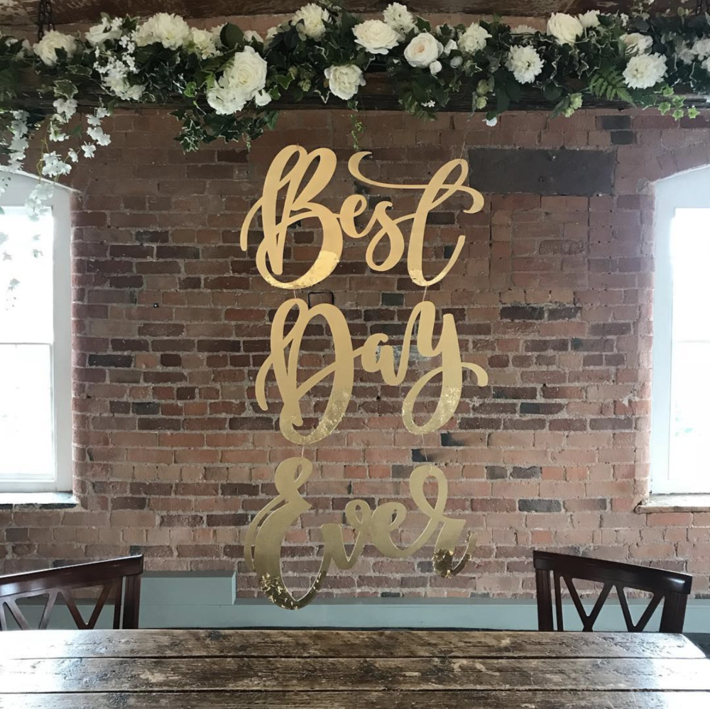 Large wedding signage