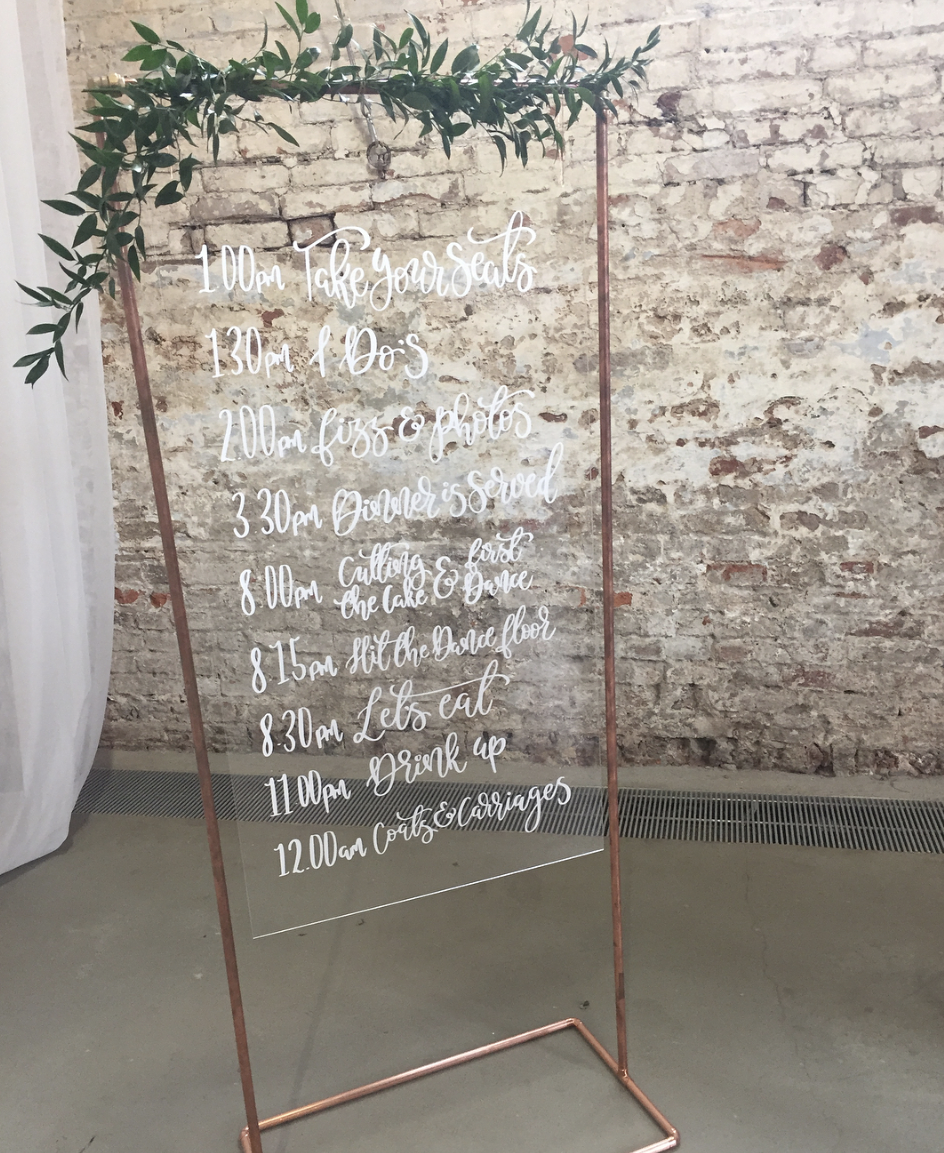 Plan boards for weddings