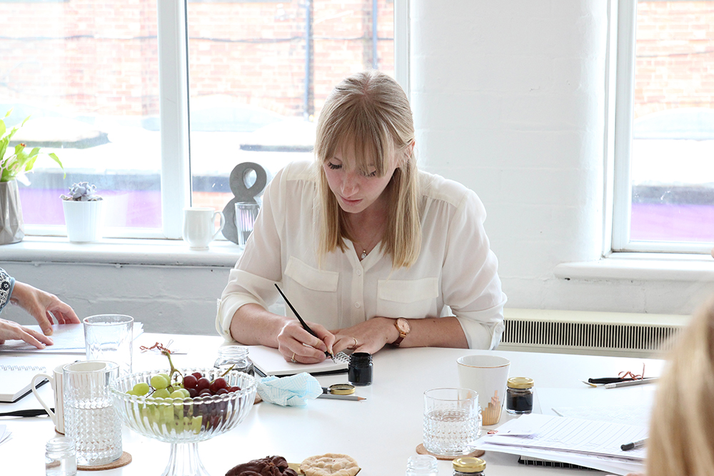 modern calligraphy workshops Nottingham