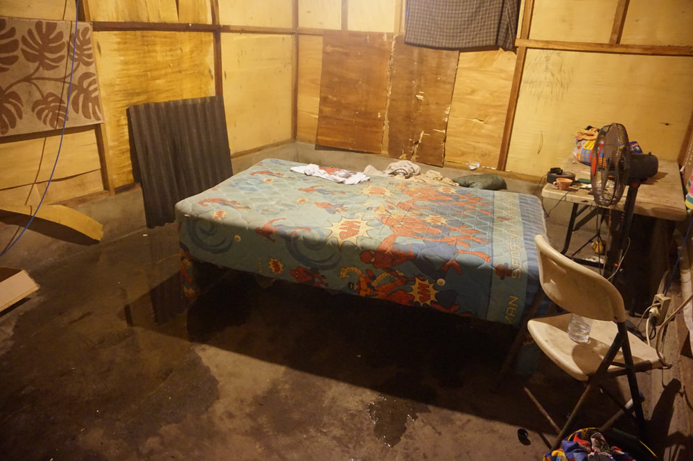 Sometimes when it rains it floods... but this is the boys home.