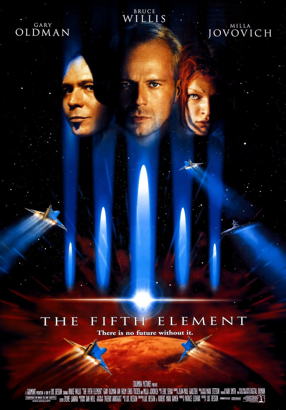The Fifth Element (1997)WATCHED - Best guess: Bruce Willis drives around in space.