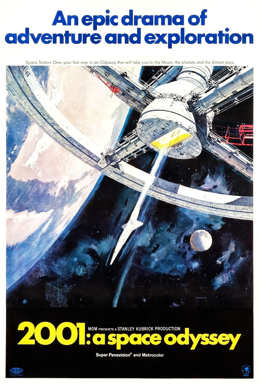 2001: A Space Odyssey (1968) - Best guess: An epic drama of adventure and exploration?
