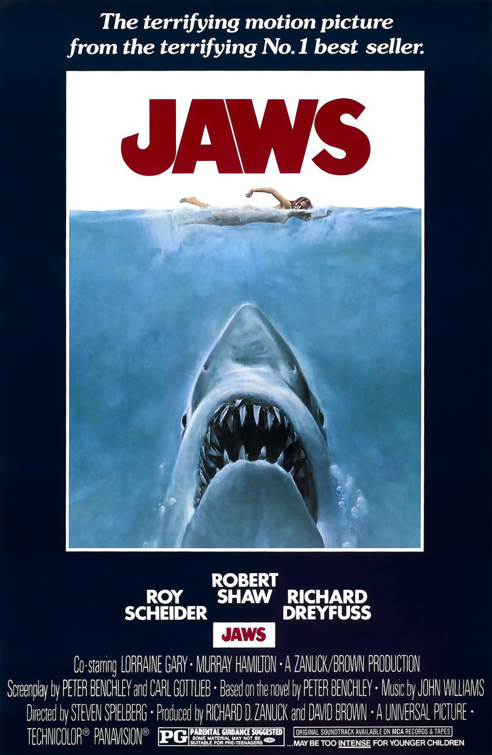 Jaws (1975) - Best guess: The Birds (which I did see), but with a shark.