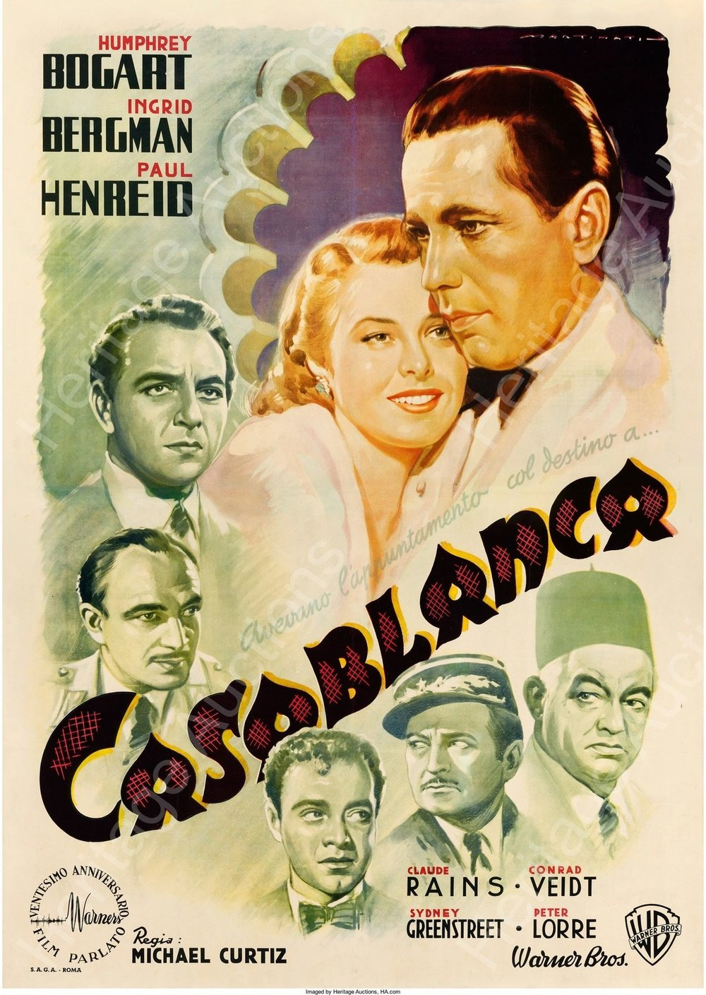 Casablanca (1942) - Best guess: Two people fall in love in a white house.