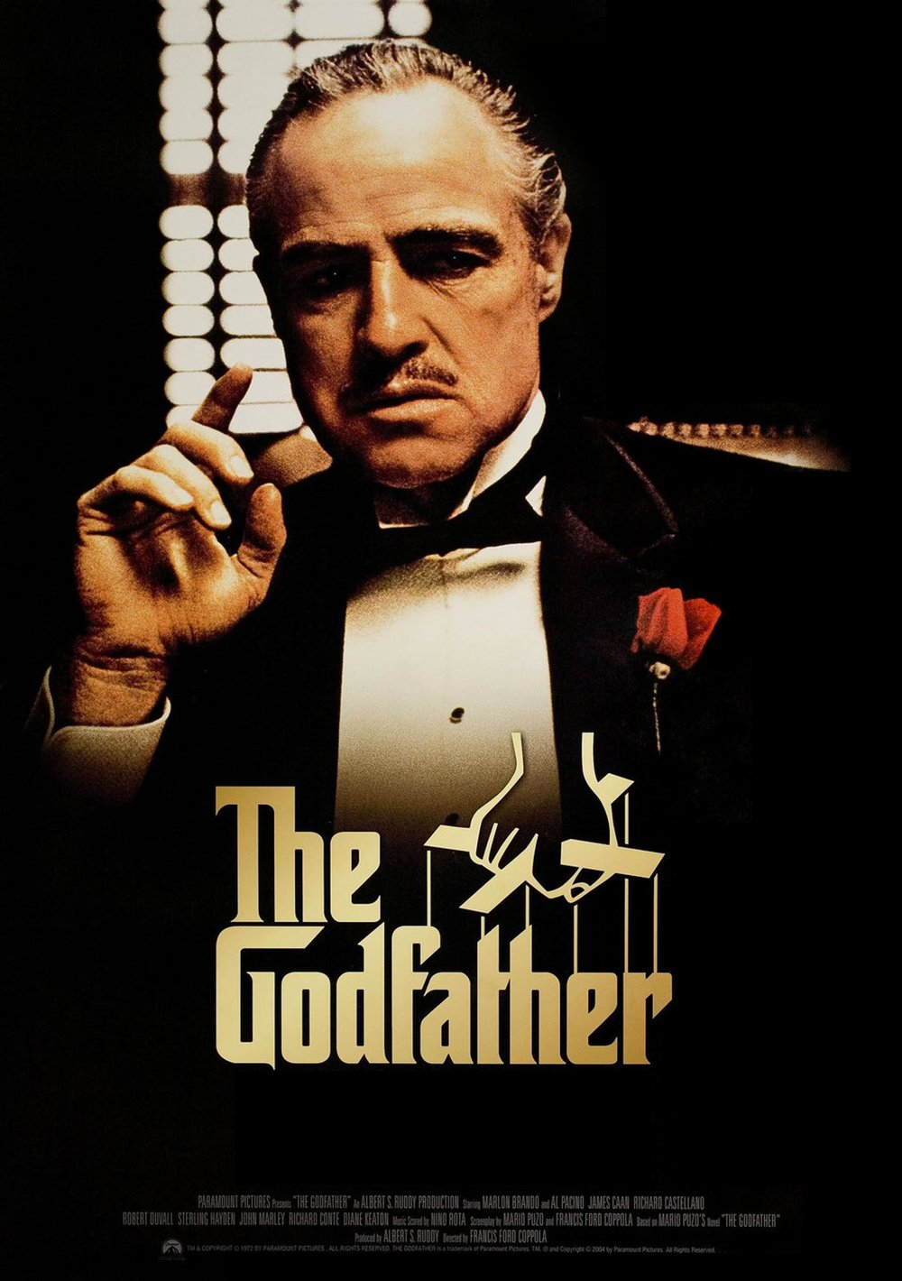 The Godfather (1971) - Best guess: A mobster becomes someone's Godfather and paves the way for The Sopranos (haven't seen that).