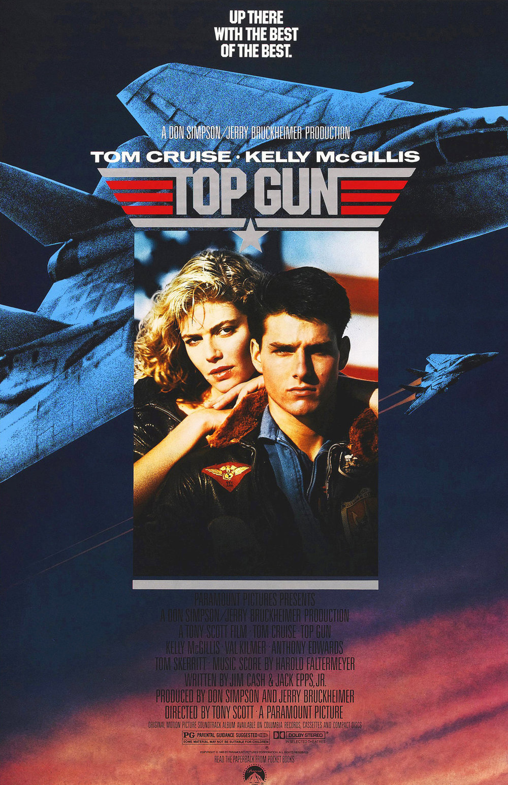 Top Gun (1986) - Best guess: Tom Cruise becomes the best pilot ever and saves the world.
