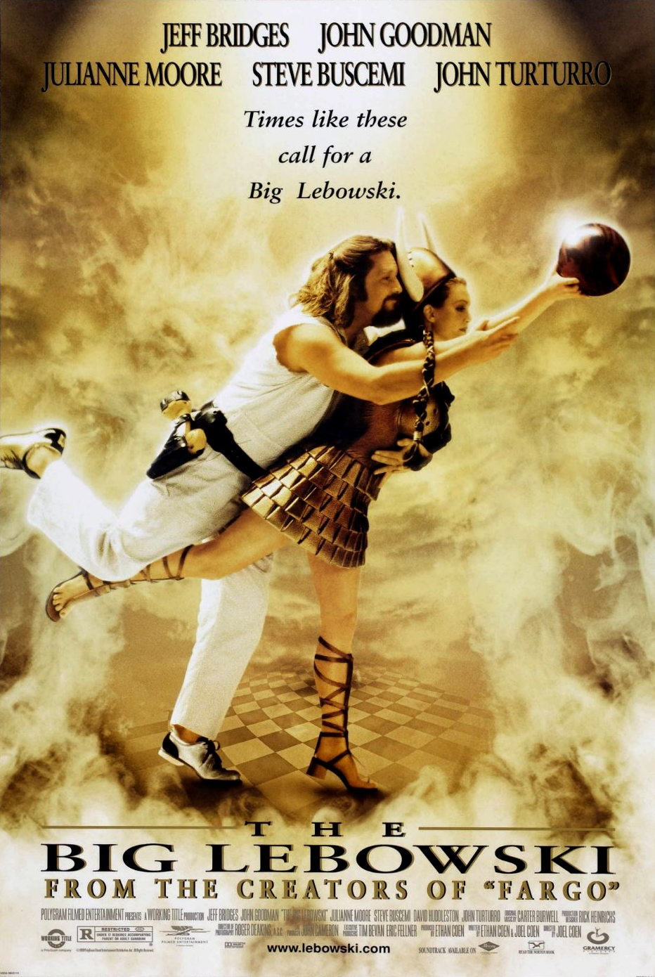 The Big Lebowski (1998) - Best guess: Two people fall for each other thanks to their mutual love of bowling.