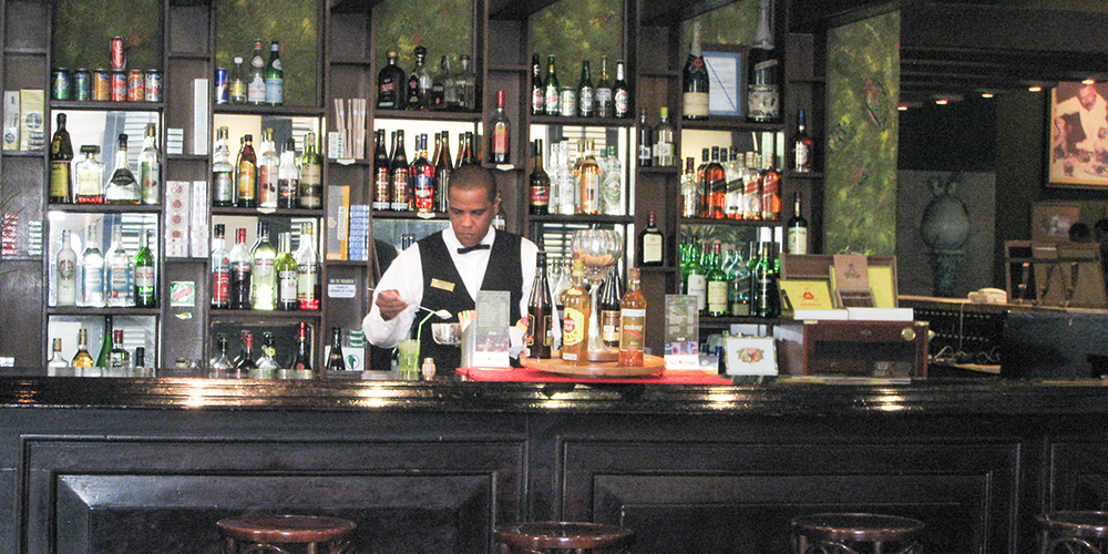 A typical bar in Old Havana