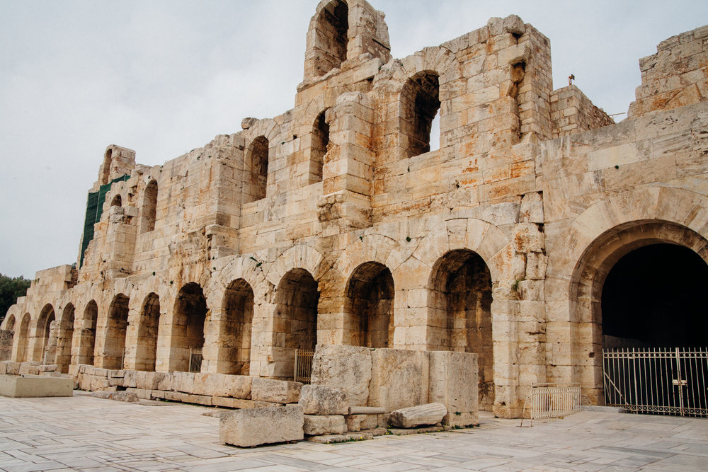Ground view of  Odeon Of Herodes Atticus.