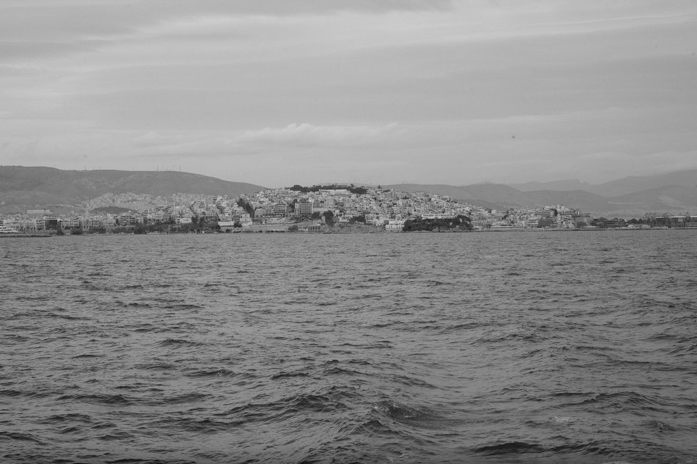 Leaving Athens on a boat to visit other islands.