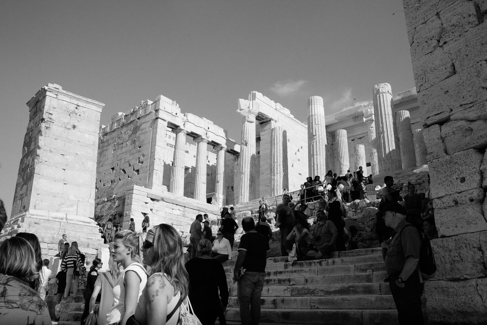 The famous Acropolis! Currently under restoration, as it has been for the last 45 years.....