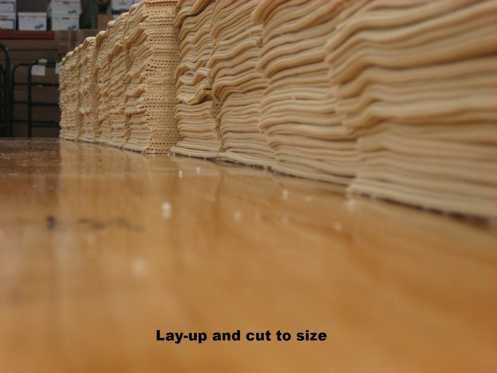Lay-up to cut to size