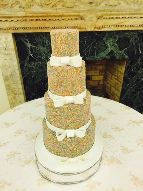 Hundred\'s and Thousand\'s Wedding Cake! — SUGAR FLOWER CAKE COMPANY ...