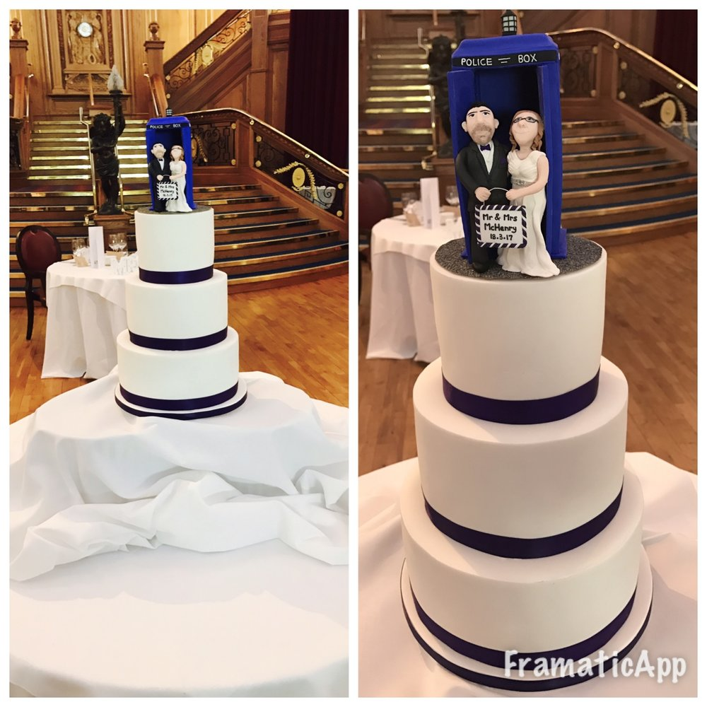 DR WHO SUGAR FLOWER CAKE COMPANY BESPOKE WEDDING CAKES WEDDING