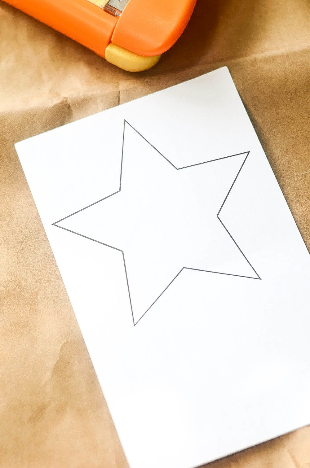 Trace, then cut out a star to make a stencil.