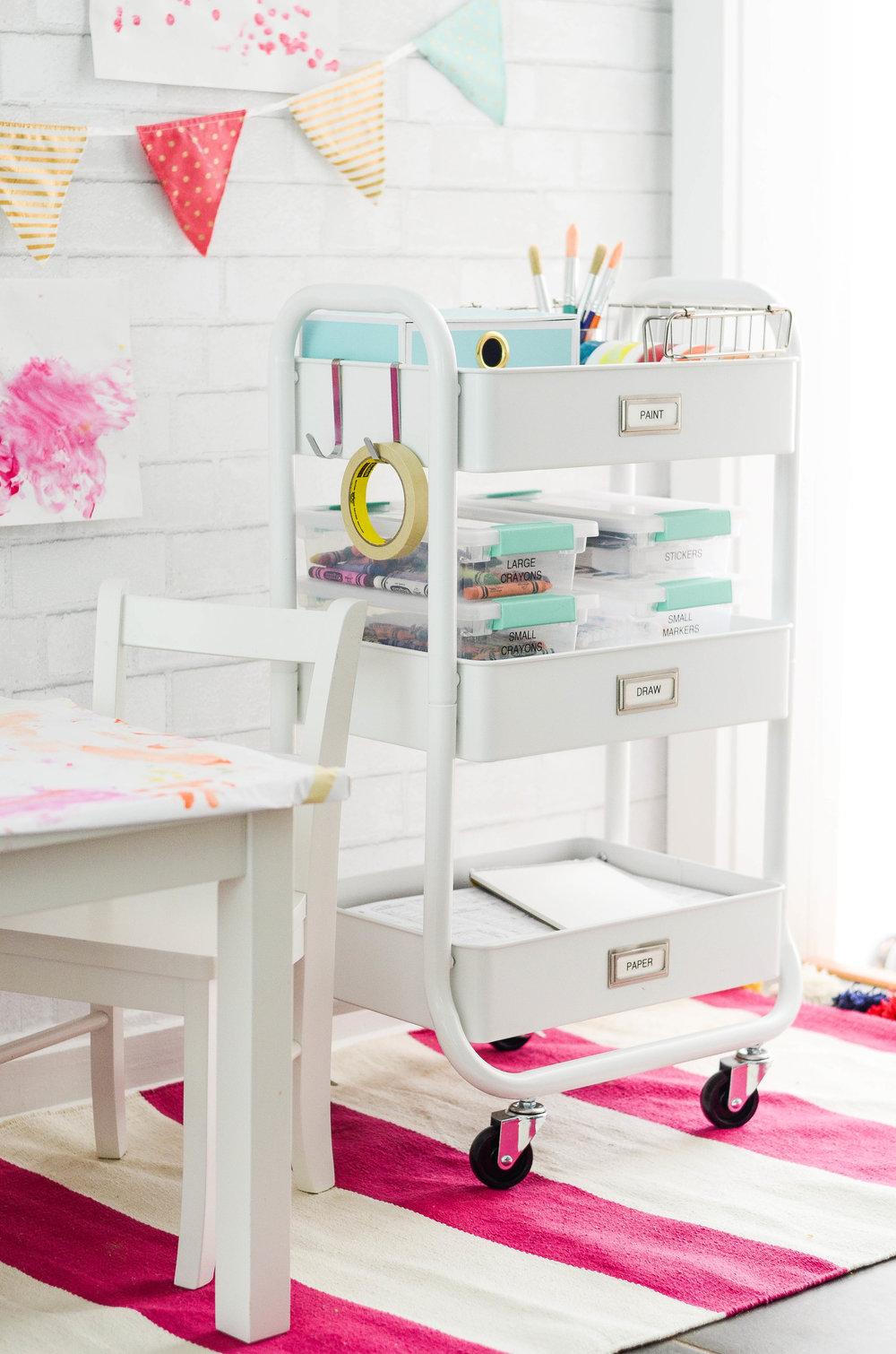 This organized art cart will change your life!