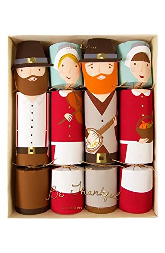 These pilgrim party crackers are decor and party favor in one!