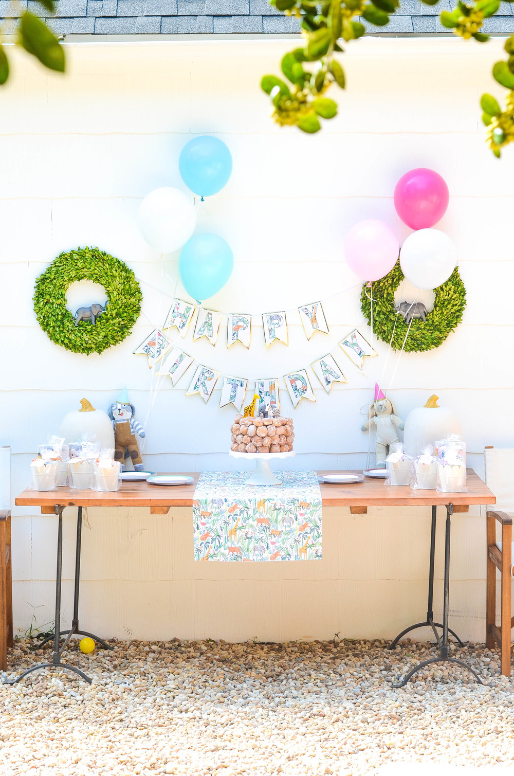 p & k's 2nd birthday party — iron & twine