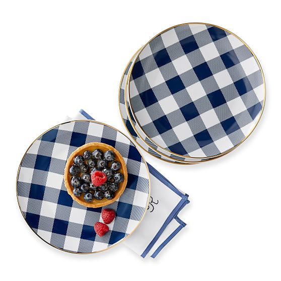 Mark & Graham Gingham Plate