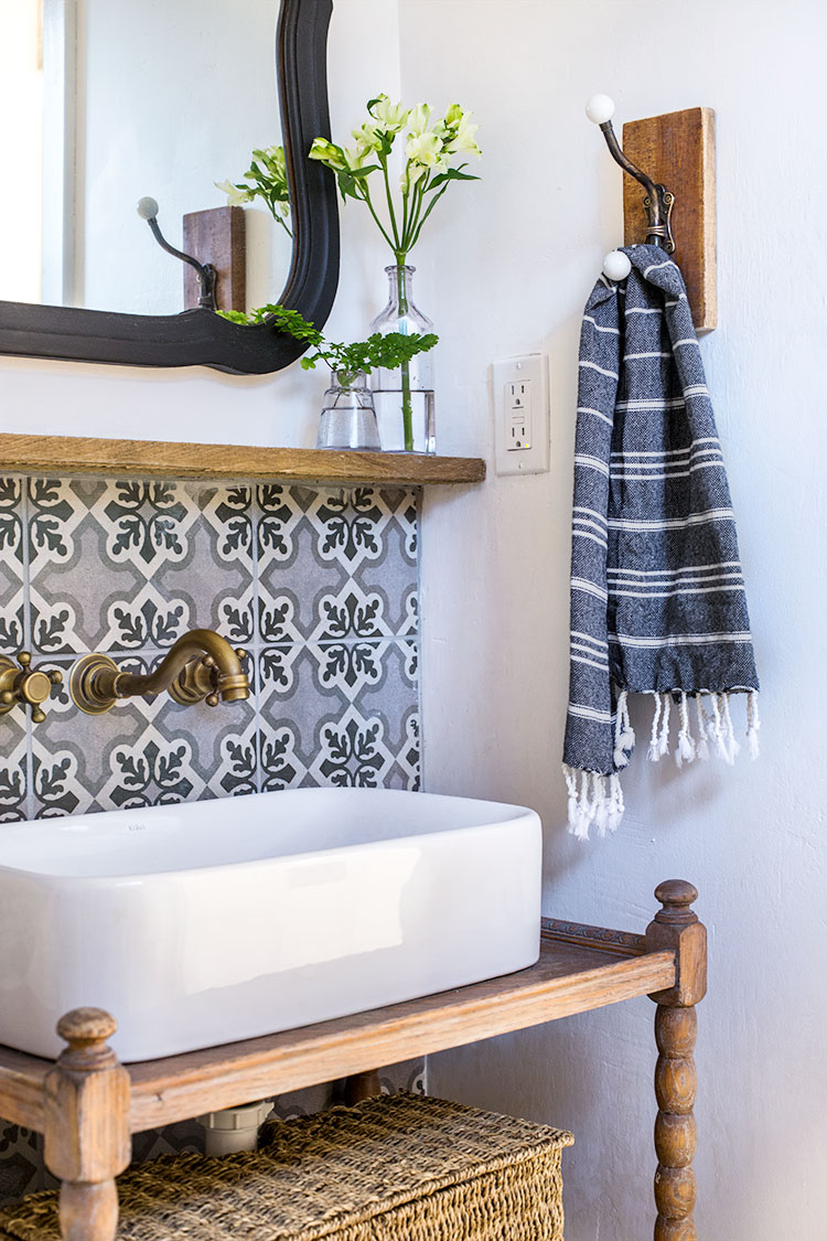 Cement Tile in Bathroom
