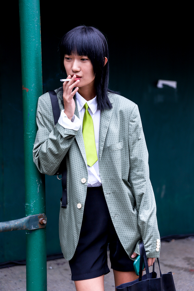 Korean aesthetic Meets NYC Street Style - One of my favourite looks of the week