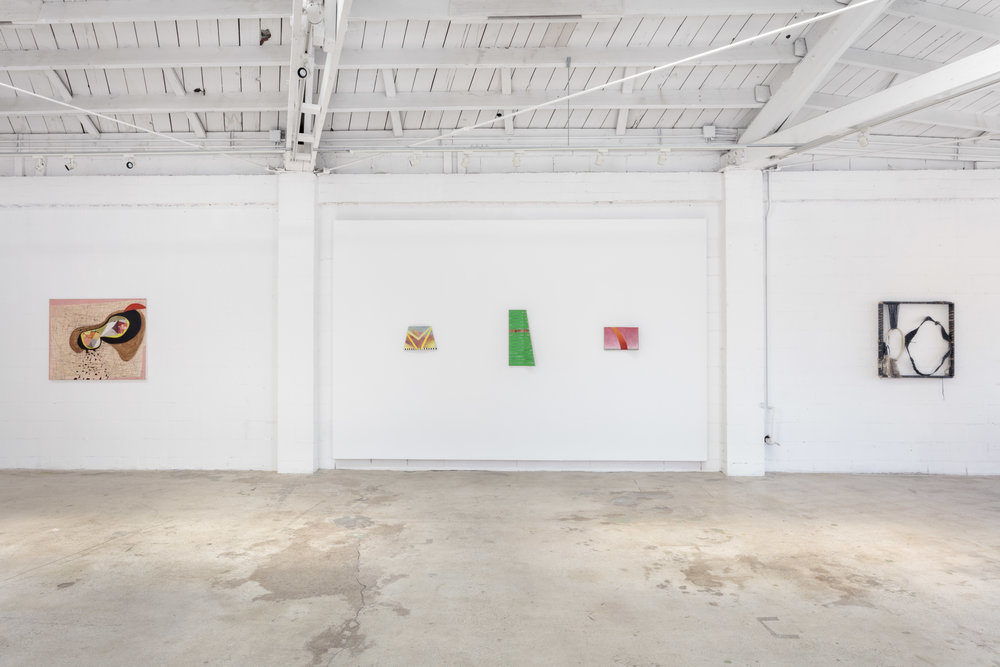 Installation view, Materializations, the Landing, 2018
