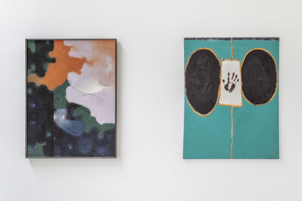 Installation view, Robert McChesney & Emerson Woelffer: 1959-1964, the Landing, 2018