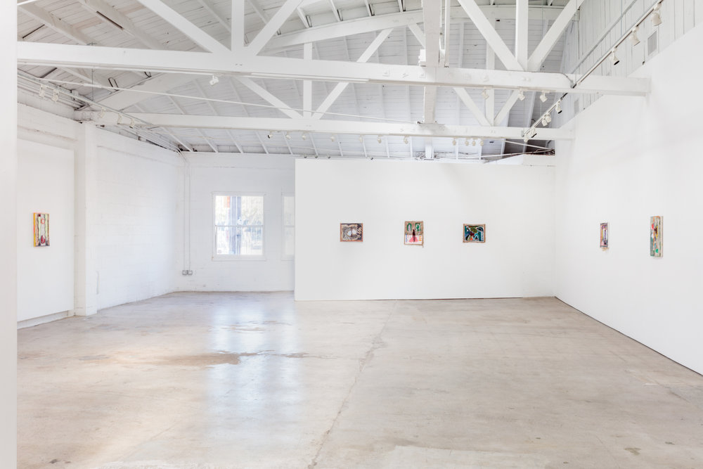 Installation view, Yevgeniya Baras: Towards Something Standing Open, the Landing, 2018
