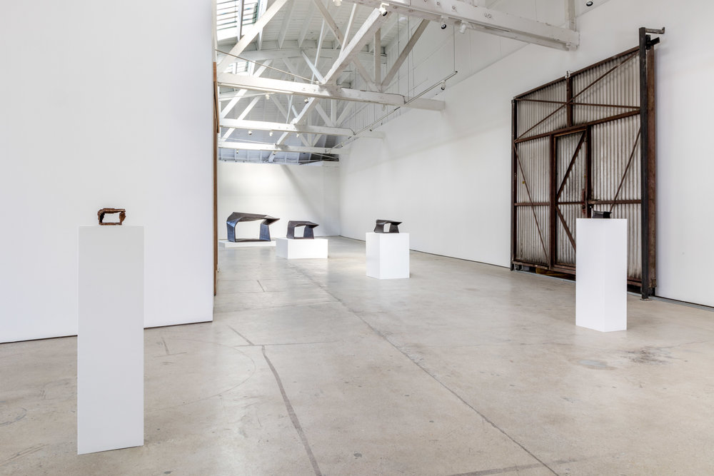 Installation view, Morgan MacLean: massing the void, the Landing, 2016