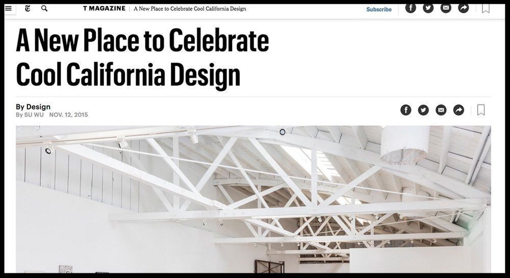 - The New York TimesA New Place to Celebrate Cool California Design