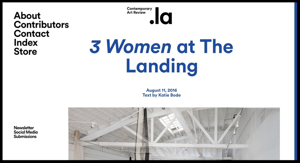 - Contemporary Art Review3 Women at The Landing