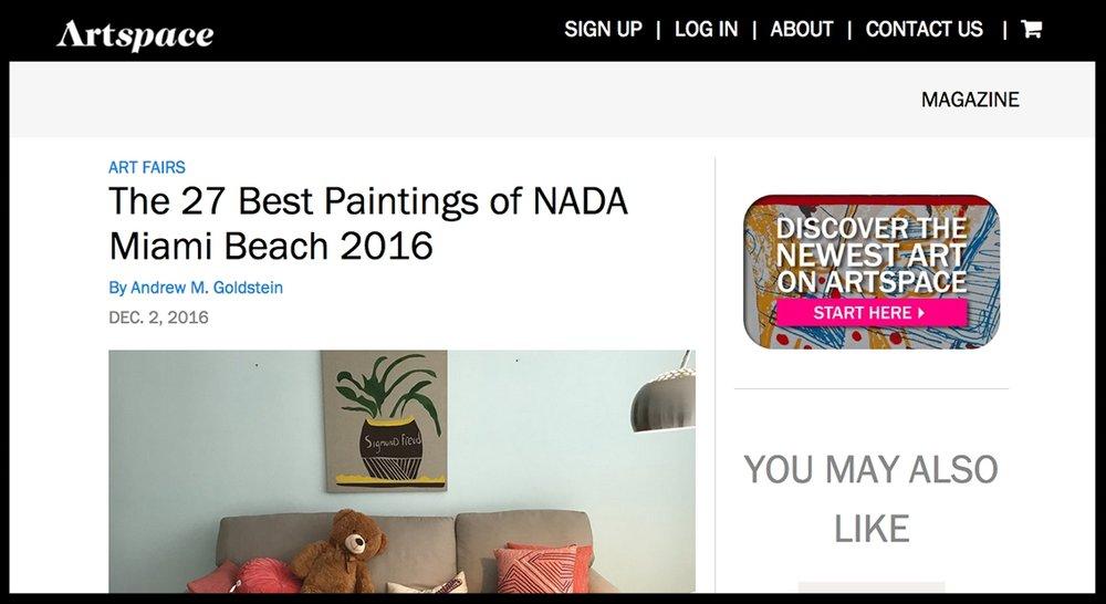- ArtspaceThe 27 Best Paintings of NADA Miami Beach 2016