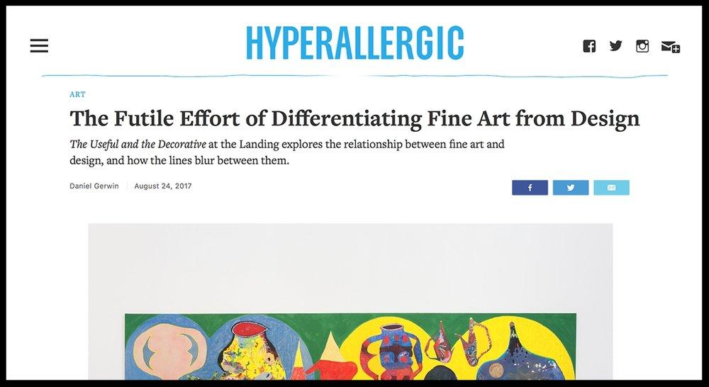 - HyperallergicThe Futile Effort of Differentiating Fine Art from Design