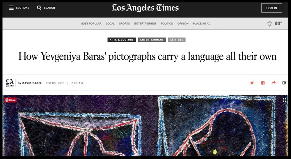 - Los Angeles TimesHow Yevgeniya Baras' pictographs carry a language all their own