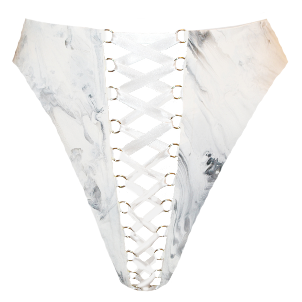 Alexis Lace Up Knicker White — ELISSA