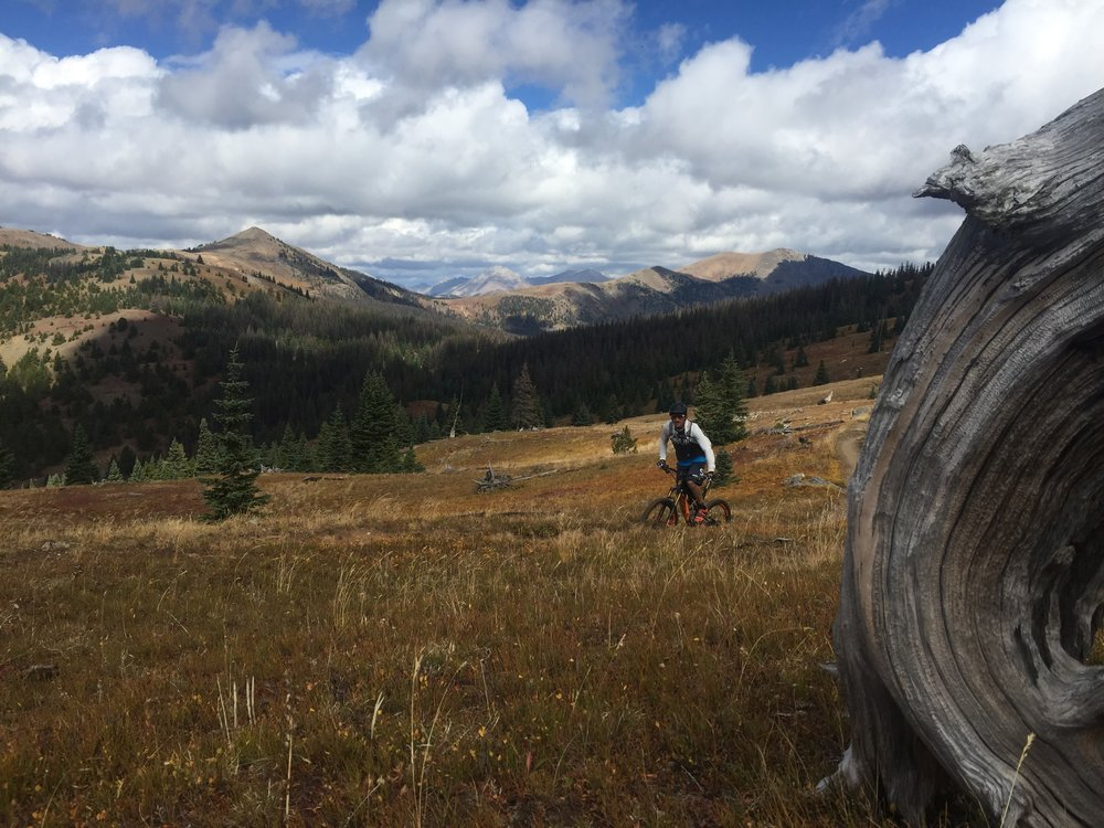 My buddy Chris Fillmore enjoying the Monarch Crest trail.