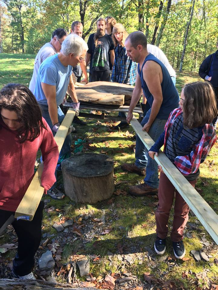 Community Build 2016 - During our Community Build in October 2016, we added a Debris Hut, a Rope Swing, and a Ninja Warrior course.