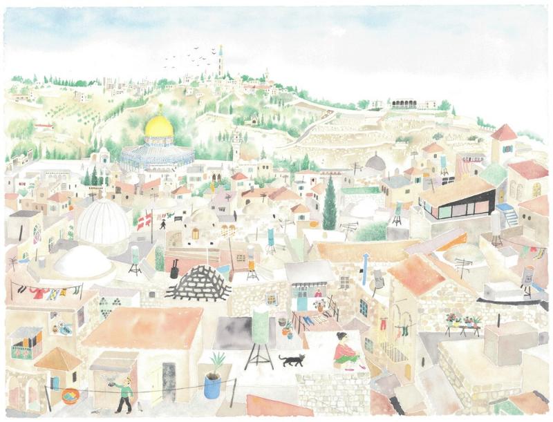 "William Kendrick © 1994 ""Jerusalem City of Gold"" - 18 x 24 in / 46 x 61 cm"