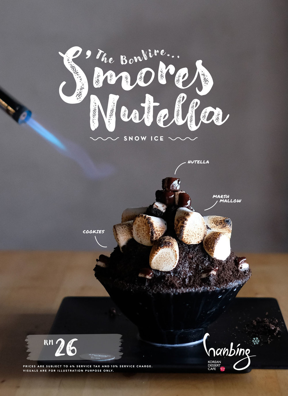 The Bonfire… S'mores Nutella! - Camp out for The Bonfire, our version of S'mores Nutella Bingsu.