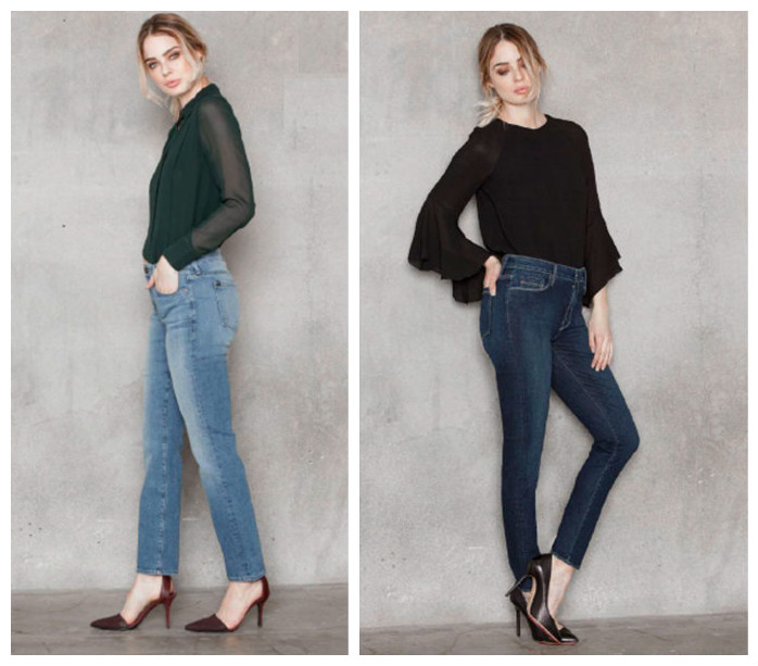 High Waisted Jeans: it's all about the high rise, vintage, classic fit.