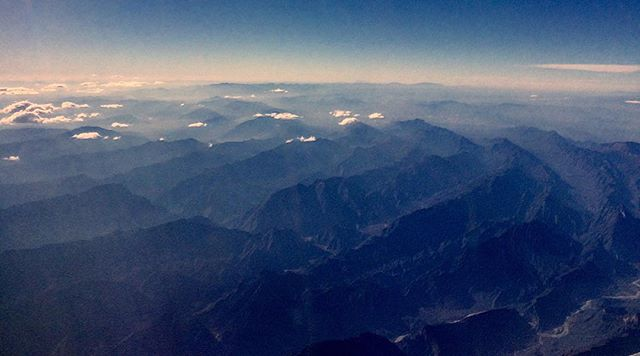 Mountains move like waves in an ocean... It just takes millions of years 😉. Flying over Mexico Xmas day. #mexico #picoftheday #iphonography #nature