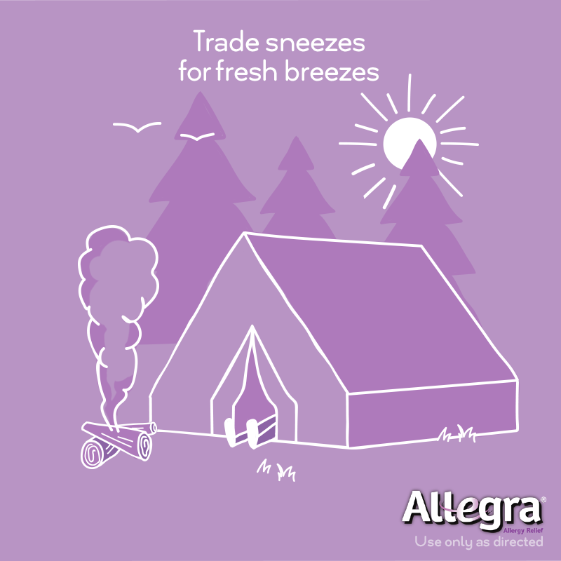 Don't let your allergy symptoms keep you inside this spring. Bring Allegra for non-drowsy allergy relief that starts working fast. Available at CVS.