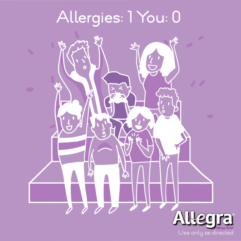 Itchy watery eyes and it's game over. Keep a strong defense against allergies with 24-hour, non-drowsy relief from Allegra, available at CVS.