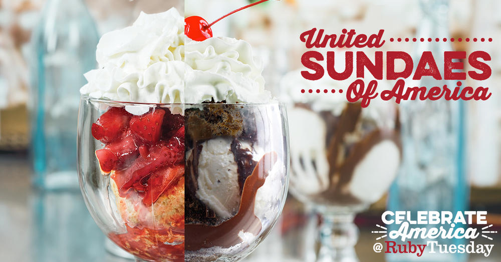 This Sunday 7/17, show your allegiance to the United Sundaes of America, where you can buy one sundae and get a second for FREE!