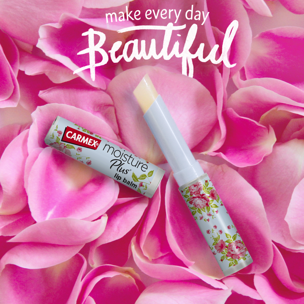 Freshly cut and ready to wear. Dressed in a delicate floral print, the new Carmex Moisture Plus Lip Balm is designed for you to live in full bloom. Pick one up at Walmart checkouts.